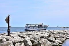 Turismo dos grandes lagos em Milwaukee Wisconsin fotos de stock