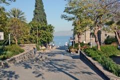 Turismo e hotéis em Tiberias Imagens de Stock Royalty Free