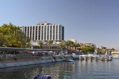 Turismo e hotéis em Tiberias Imagens de Stock