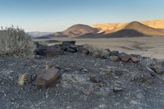 Turismo e viaggio della natura del paesaggio del deserto Fotografia Stock Libera da Diritti
