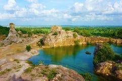 Turismo ecológico del delta del lago pa de TA, el Mekong fotos de archivo