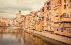 Turismo em Girona fotografia de stock