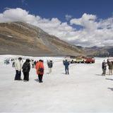 Turismo em massa nas Montanhas Rochosas Fotografia de Stock