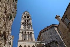 Turismo en Croacia/la fractura, la catedral del santo Domnius fotografía de archivo libre de regalías