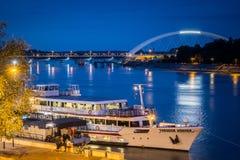Turismo en el río Fotografía de archivo libre de regalías