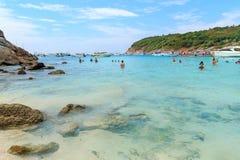 Turismo en la isla de Raya Fotos de archivo