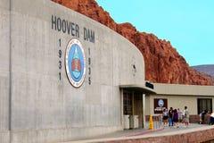 Turismo Estados Unidos de la Presa Hoover Fotos de archivo