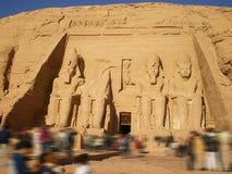 Turismo eterno de Abu Simbel fotografia de stock royalty free