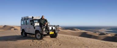 Turismo - mayor masculino en Namibia imagen de archivo libre de regalías