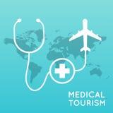 Turismo medico Illustrazione moderna di vettore di progettazione piana Fotografie Stock