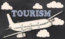Turismo no quadro-negro ilustração royalty free