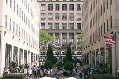 TurismRockefeller mitt, New York City Arkivfoton