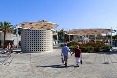 Turist在阿德赫,特内里费岛 免版税图库摄影