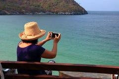 Turist- asiatiska kvinnor Fotografering för Bildbyråer