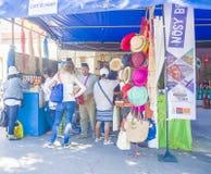 Turist- besökutställningställning under den madagassiska karnevalet arkivbilder