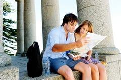 Turist- bröllopsresa för par Arkivbilder