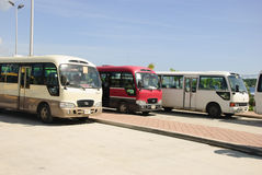 Turist- bussar i Honduras Royaltyfri Bild