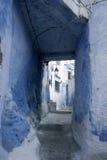 turist- byar av Marocko, Chefchaouen Arkivfoton