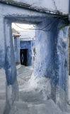 turist- byar av Marocko, Chefchaouen Royaltyfri Foto