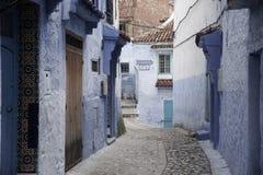 turist- byar av Marocko, Chefchaouen Arkivfoto