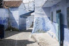 turist- byar av Marocko, Chefchaouen Fotografering för Bildbyråer