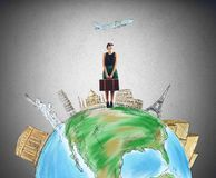 Turist- destination royaltyfri illustrationer