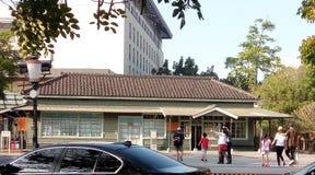 Turist- dragning: Beimen järnvägsstation royaltyfria foton
