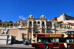 Turist- dragning för Budapest gata arkivbild