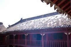 Turist- dragningar för kinesShaanxi landskap i det Huashan berget Royaltyfri Fotografi