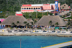 turist för costamayamexico pir Arkivbild