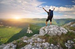 turist för plats för berg för designelement emotionell Fotografering för Bildbyråer
