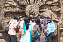 turist för tempel för indierkonaraksun Arkivbilder