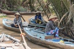 Turist- fartyg på den Mekong deltan Fotografering för Bildbyråer