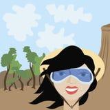 Turist- flicka Royaltyfri Bild