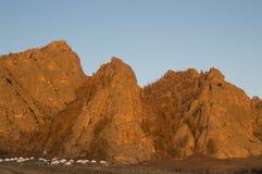 Turist Ger Camp i Mongoliet Fotografering för Bildbyråer
