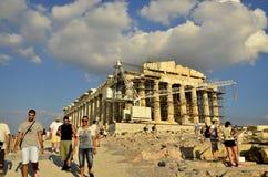 Turist i Aten Arkivfoto