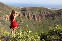 Turist i Gran Canaria Arkivbilder