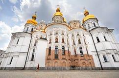 Turist i Kiev Pechersk Lavra arkivfoton