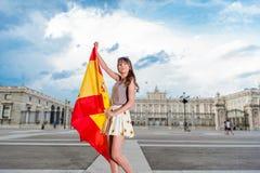 Turist i Spanien Arkivbilder