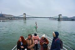 Turist i staden Budapest Royaltyfri Foto