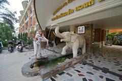 Turist i Thailand Arkivfoto