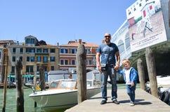 Turist i Venedig, Italien royaltyfri foto