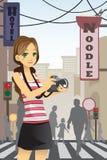 turist- kvinna Arkivfoton