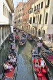 Turist- liv av Venedig Arkivfoto