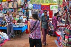 Turist- loppmarknad i Indien Fotografering för Bildbyråer