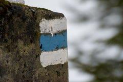 Turist- markering arkivfoton