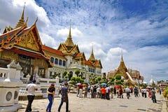 Turist med det vita molnet Royaltyfri Bild
