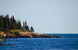 Turist på parken för Acadia N. Arkivfoton