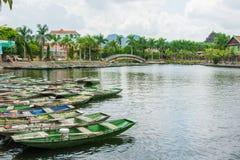 Turist- populärast ställe för fartyg i Vietnam Royaltyfri Foto