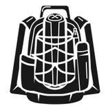 Turist- ryggsäcksymbol, enkel stil royaltyfri illustrationer